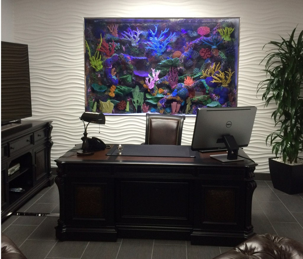 Decorations For Living Room 550 Gallon In Wall Marine Aquarium With Faux Reef