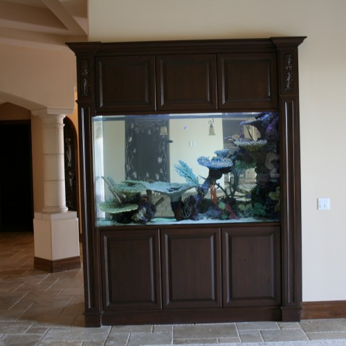 600 Gallon Marine Aquarium Room Divider with Faux Reef ...